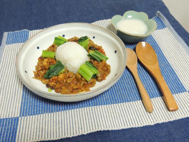 簡単本格派!大豆とひき肉のドライカレー