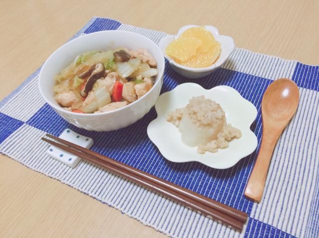野菜たっぷり♪鶏胸肉のヘルシー中華丼