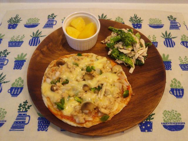 とろ~りチーズがたまらない♪長いもの濃厚ピザ