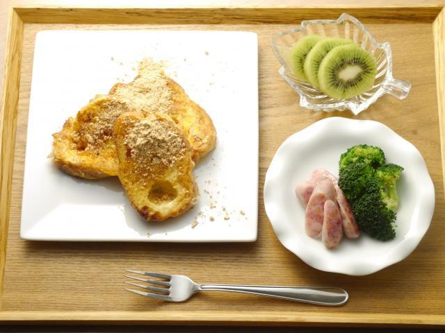 パンと相性抜群!食物繊維が豊富きな粉のフレンチトースト