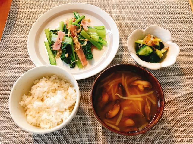 ごはんが進む一品!小松菜とハムの中華炒め♪