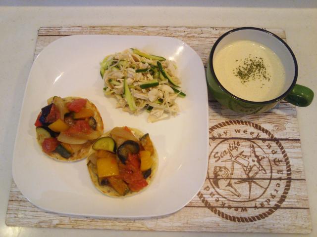 夏野菜たっぷり!ラタトゥイユのオープンサンド