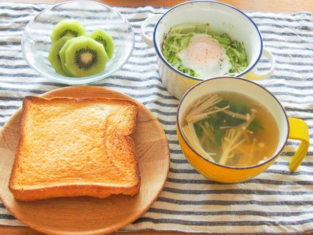 ハムとブロッコリーの卵トーストセット